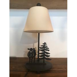 Tischlampe Kuh mit Baum